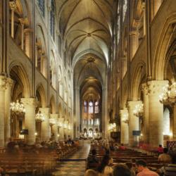 La nef, construite de 1180 à 1220