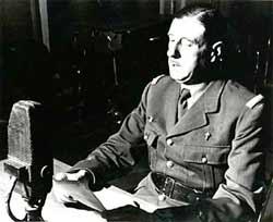 Charles de Gaulle (le 18 juin 1940)