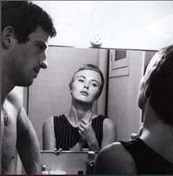 Jean-Paul Belmondo et Jean Seberg dans A bout de souffle (1959)