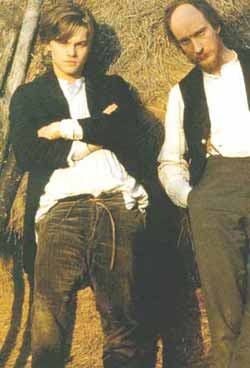 Leonardo Di Caprio (Rimbaud) et David Thewlis (Verlaine) dans le film d'Agnieszka Holland, Total Eclipse (1995)