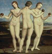 Les Trois Graces de Raphael