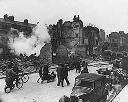 Londres bombardée, 1940