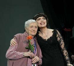 Avec sa mère, Marcelle