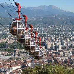 Le téléphérique de Grenoble Bastille