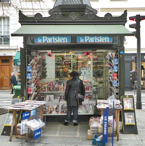 Les kiosques à journaux